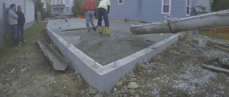 Concrete Slab Pouring
