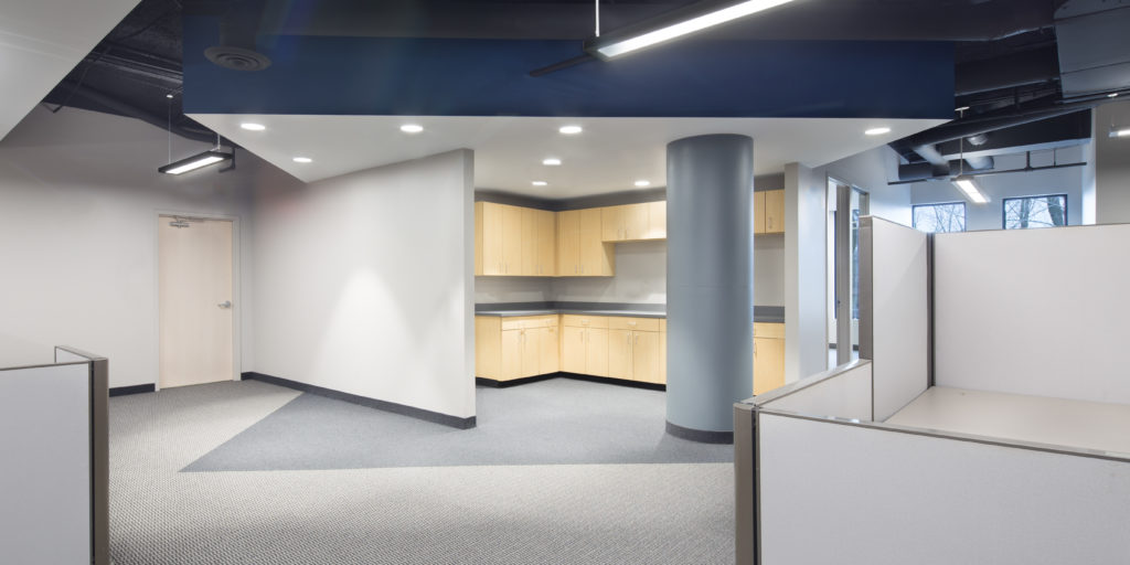 A Few Highlights Of This Office Renovation Includes: