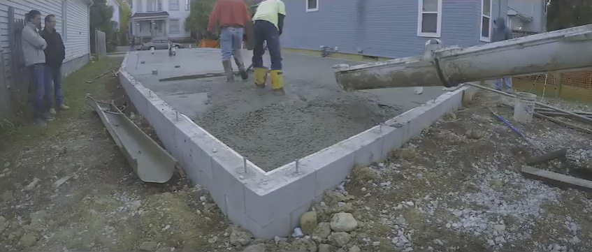 The Jam House Concrete Slab